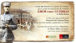 """Convite para o Lançamento do Livro """"Amor entre Guerras"""""""